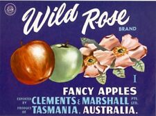 "SALE- Vintage Tasmania Apple Case Labels Fruit Art Poster ""baker's dozen""-T (13)"
