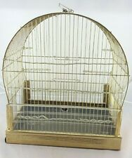 Vintage Hendryx Art Deco Style/Cottage Bird Cage brass gold tone
