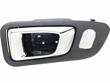 Honda Pilot 03-08 Inner Front Passenger Gray bezel with chrome lever Door Handle