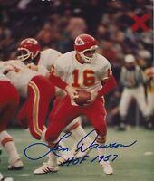 Len Dawson Signed Autographed 8 x 10 Photo ( CHIEFS HOF ) REPRINT