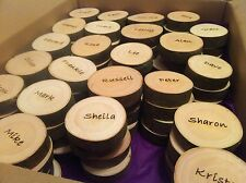 Wedding Favours Personalised Name Place Slices Rustic Discs UK Supplier )