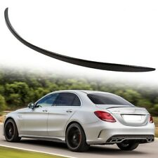 Carbon Fiber For Mercedes Benz W205 C-Class C63 C300 Rear Trunk Spoiler 14-16