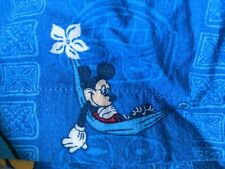 Disney Store Authentic Hawaiian Mickey Mouse Surf Hammock Xl Shirt Floral camp