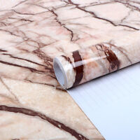 5M Marble Contact Paper Removable Wallpaper Film Self-Adhesive Wall Stickers