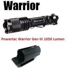 PowerTac Warrior Gen III 1050 Lumens Tactical LED Flashlight Quick Strobe Switch