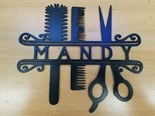 Hair Stylist metal wall art plasma cut decor shop gift idea salon