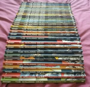 The Walking Dead COMPLETE Volumes 1-32 Kirkman Image Vol Graphic Novel Bundle