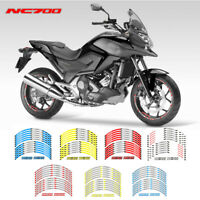 12x Motorcycle front and rear wheels Edge Outer Rim Sticker For Honda NC700-S7