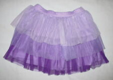 Justice Girls 10 Purple Tiered Tulle Layered Tutu Skirt Ombre