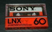 Sony LNX 60~Type 1 Normal Bias Blank Cassette Tape~SEALED~FAST SHIPPING!