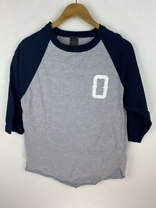 Obey Worldwide Propaganda Mens T Shirt Size M 3/4 Length Sleeves Crew Neck Grey