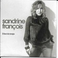 CD CARDSLEEVE 1T SANDRINE FRANCOIS IL FAUT DU TEMPS EUROVISION 2002 BRUEL 2017 N