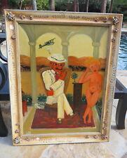 "Italian Oil Painting ""The Dream"" ""Il Bogna"" Leni Cavamo ?? Artist"