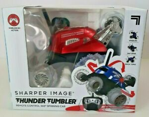 Sharper Image Thunder Tumbler Remote Control 360 Spinning Red Car Brand New