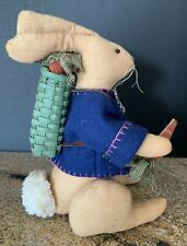 Decorative Stuffed Easter Bunny Basket Of Carrots Easter Spring Table Top Decor