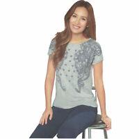 Damen Strick Shirt Graphic Muster kurzarm Sommer Öko-Tex Alltag Ornament Viskose