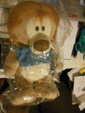 Lion  ( Stuffed Animal  )  Light brown / Blue *** Free Shipping