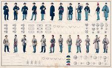 """20x30"""" CANVAS Decor.Art print.U.S Army uniforms Ranks medals badges cap.6178"""