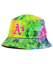 New Era Oakland Athletics A's Rainbow GEM Kids Child Safari Bucket Hat RARE