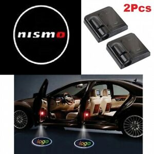 2Pcs Nismo Wireless Car Door Welcome LED Shadow Lights Courtesy Projector Ghost