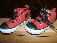 Converse Chuck Taylor All Star SHOES Sneaker TODDLER SIZE 7 RED BLACK HI TOPS