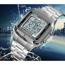 Reloj de Pulsera alarma Deportivo Reloj SKMEI Hombre Mujer Digital LED impermeable Plata UK