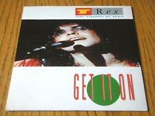 "T REX - GET IT ON (TONY VISCONTI '87 REMIX) / JEEPSTER  7"" VINYL PS"