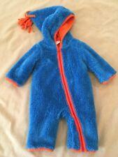 Giggle Baby Snowsuit Plush Bunting 0-3 Baby Boy Girl Super Soft Fuzzy Tassel Hoo