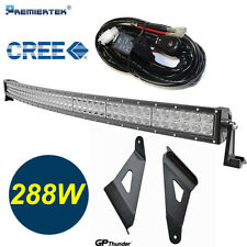 50inch Curved Off Road 288W CREE LED Light Bar Chevy GMC 14-15 RELAY+Bracket**&@