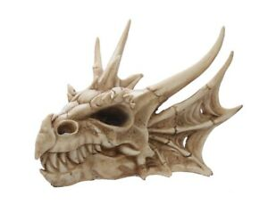 Collectable Resin Dragon Skull Head Statue Figurine Skeleton Ornament Gothic