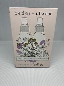 Cedar + Stone Set Echinacea Lemon Yarrow Lavender Morning Ritual Room Mist