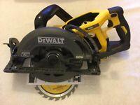 "Dewalt DCS577B Flexvolt 60 Volt 60V Max 7-1/4"" Brushless Worm Drive Saw New"