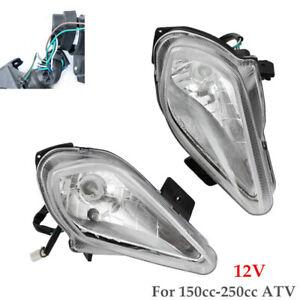 1 Pair 12V Front Bulb Headlamp Night Light Quad Dirt Bike For 150cc-250cc ATV