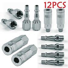12X Air Line Hose Compressor Fitting Connectors Quick Release Set 1/4 BSP AT360