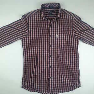 US POLO ASSN Long Sleeve Collared Shirt Original. Size Medium