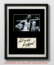 Bill Russell Matted Autograph & Photo! Boston Celtics Basketball Legend! Rare!