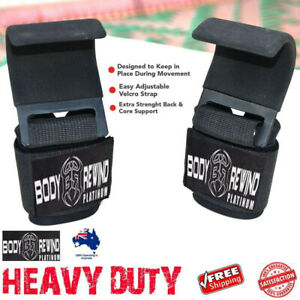 Heavy-Duty WEIGHT LIFTING HOOKS for Grip DEADLIFT STRAPS Gym Power Wrist Support