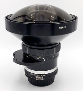 Nikon 8mm F2.8 Fisheye Nikkor F Converted to AI