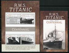 St Vincent Mustique 2012 Titanic Schiff Ship Navi Bateaux Katastrophe MNH