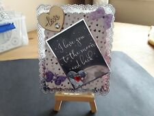 Handmade Doily Edge Frame Hunkydory Card Topper, Any Occasion. Hearts.
