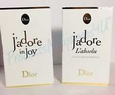 LOT of 2~Christian Dior J'ADORE IN JOY + J'ADORE L'ABSOLU .03oz CARDED SAMPLES