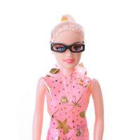 10pcs/set Fashion Doll Accessories Black Glasses For  DollASE