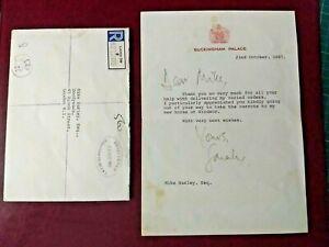 1987 Duchess of York Sarah Fergusson hand signed letter with envelope