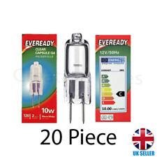 20Pcs G4 Eveready Halogen Capsule Light Bulbs Replace LED Lamp 12V 10W UK