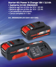 Caricabatteria rapido 2 batteria Einhell Power-X-Change 18V LITIO Kit 3AH + 2AH