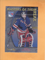 2000 01 TOPPS PREMIER PLUS MIKE RICHTER MASTERS OF THE BREAK #MB19 RANGERS