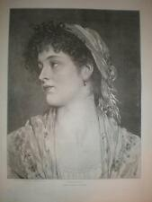 Angiolina Eugene de Blaas portrait print 1893