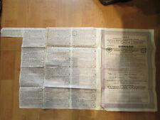 ancienne action compagnie du chemin de fer du nord donetz russie russia 1914