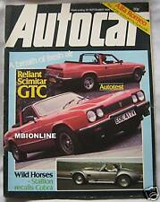 Autocar magazine 20/9/1980 featuring Reliant Scimitar GTC road test, Alfa Romeo