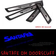 Front Rear LED Door Scuff Molding 4P 1Set For 2013-2015 Hyundai Santa Fe DM